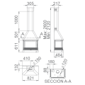 Ενεργειακά Τζάκια Ξύλου Άμεσης Τοποθέτησης - LISBOA-C - Ενεργειακα τζακια - KARPETIS FIREPLACES
