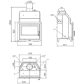 Ενεργειακά Τζάκια Ξύλου καλοριφέρ - HYDROBRONPI 60E - Ενεργειακα τζακια - KARPETIS FIREPLACES