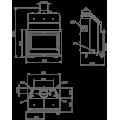 Ενεργειακά Τζάκια Ξύλου καλοριφέρ - HYDROBRONPI 70E - Ενεργειακα τζακια - KARPETIS FIREPLACES