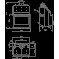 Ενεργειακά Τζάκια Ξύλου καλοριφέρ - HYDROBRONPI 80E - Ενεργειακα τζακια - KARPETIS FIREPLACES