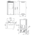 Pellet Αερόθερμα - NOA 12 KW - Ενεργειακα τζακια - KARPETIS FIREPLACES
