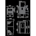 Pellet Αερόθερμα - TINA 7 KW - Ενεργειακα τζακια - KARPETIS FIREPLACES
