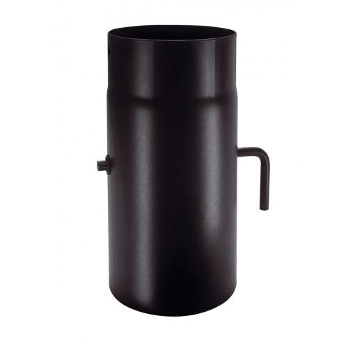 Καπναγωγοί - Φ120 PLUS 1.2 mm ΜΠΟΥΡΙ ΜΕ ΤΑΜΠΕΡ 0,25 m - Ενεργειακα τζακια - KARPETIS FIREPLACES