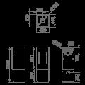Ενεργειακές Σόμπες Ξύλου - BOMBAY F - Ενεργειακα τζακια - KARPETIS FIREPLACES